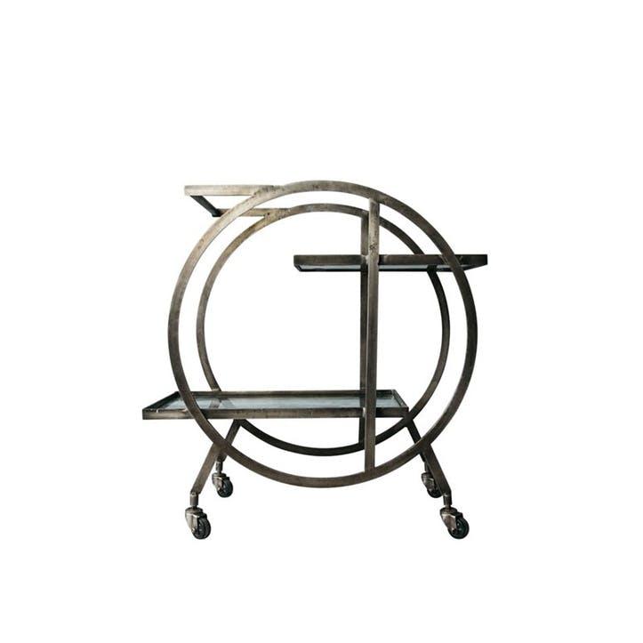 Kara Circular Trolley In Brass