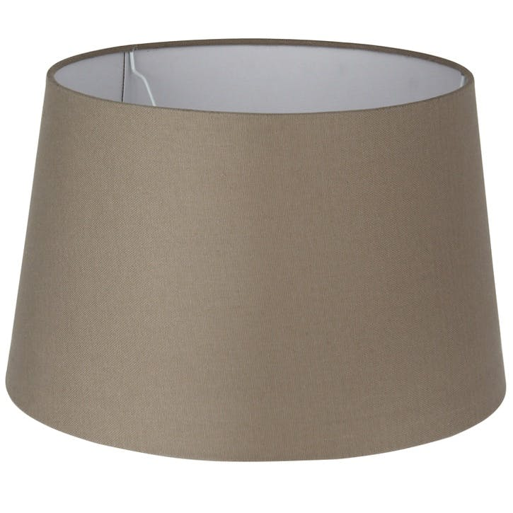 Handloom Tapered Cylinder Shade - 30cm; Taupe