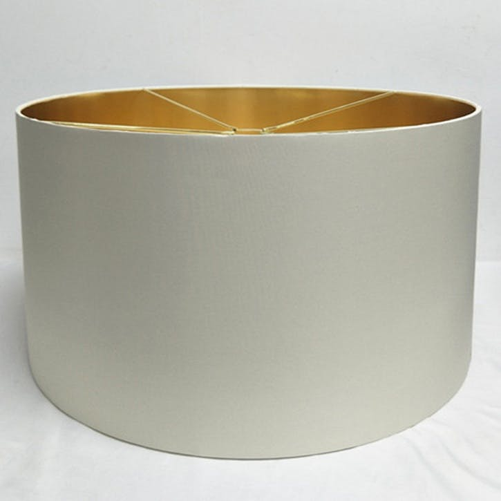 Metallic Lined Shade - 55cm; White & Gold