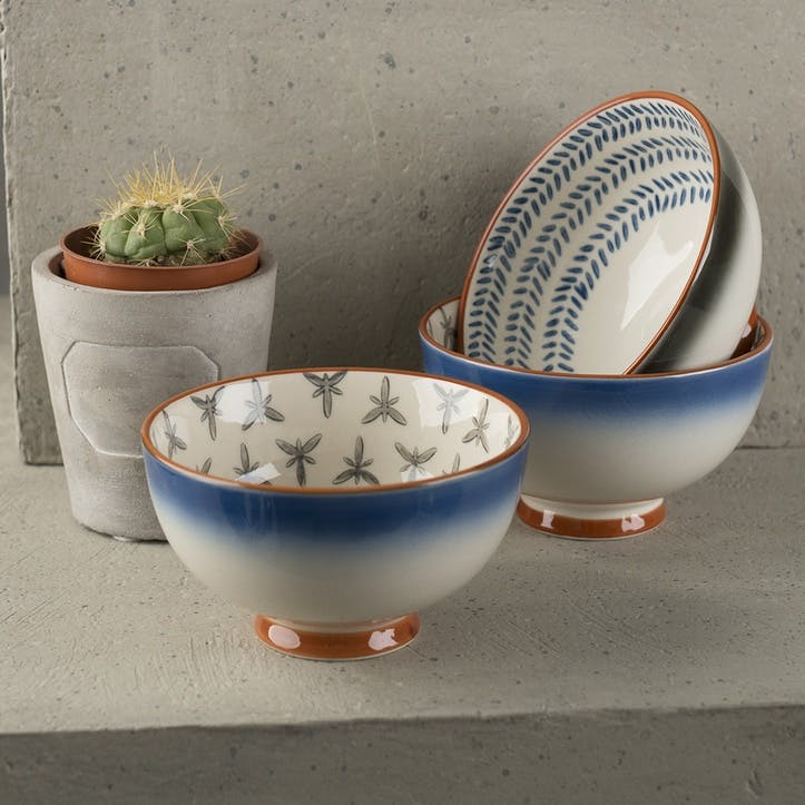 Drift Blue Ombre Small bowls, Set of 3