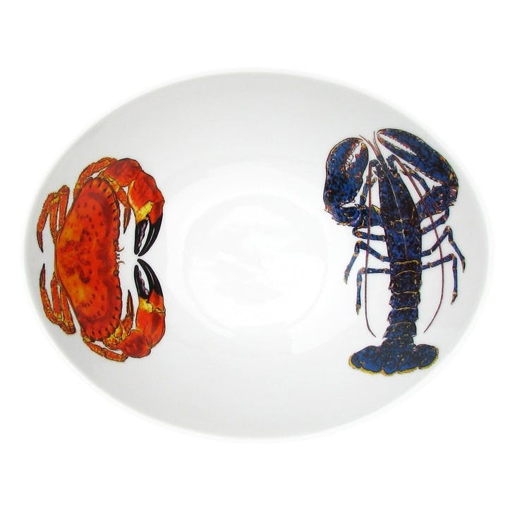 Lobster & Crab Oval Bowl - 18cm