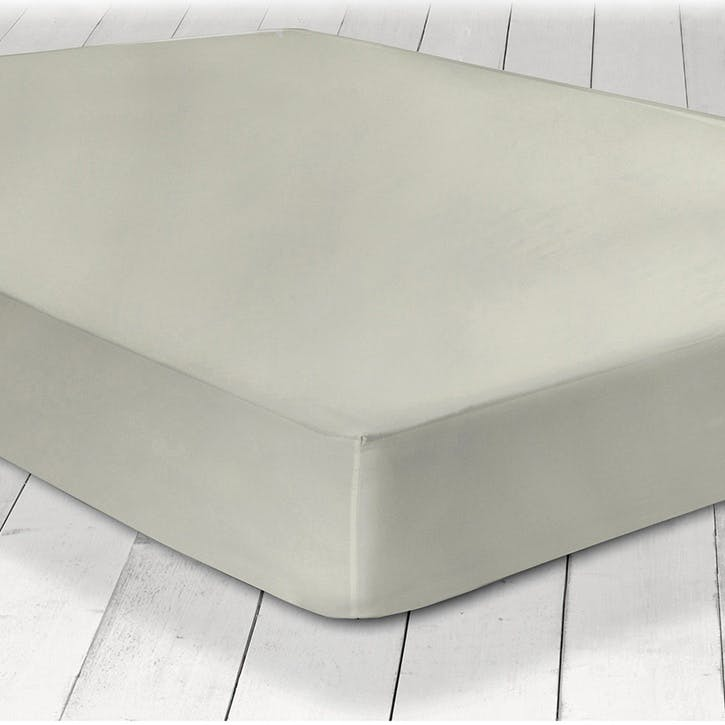 Pure Fitted Sheet, Double, Silver