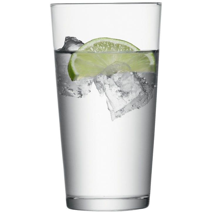 LSA Gio Set of 6 Large Juice Glasses - 320ml