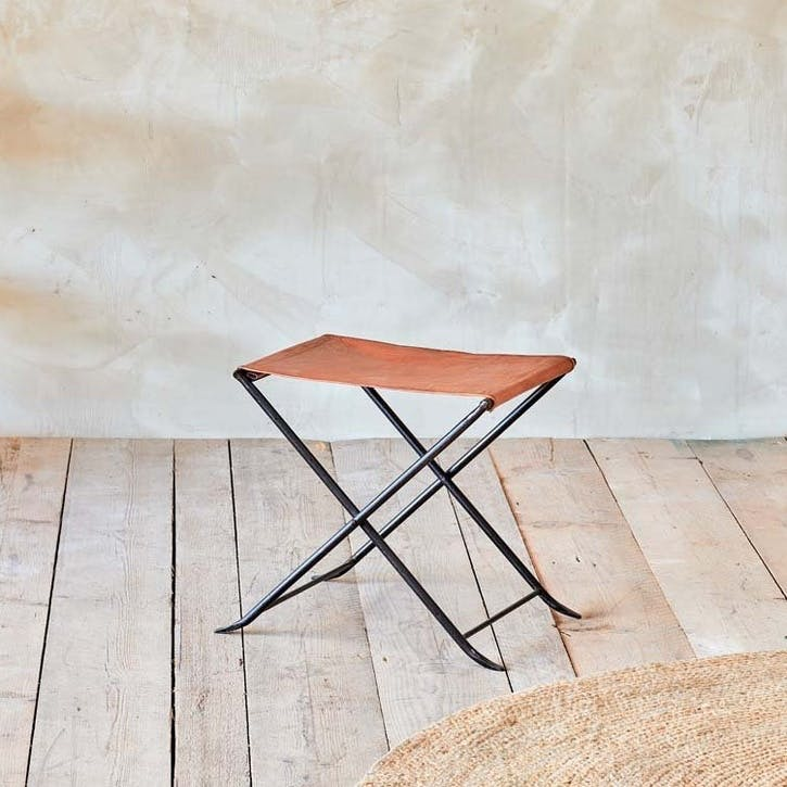 Sagari Leather Stool