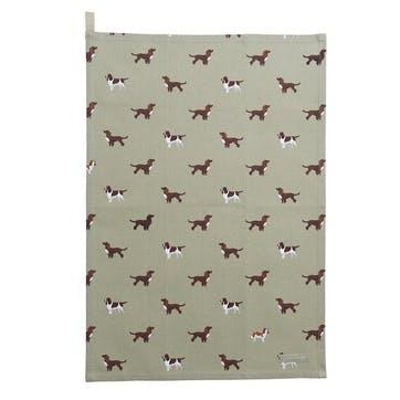 'Spaniels' Tea Towel