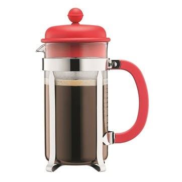 Caffettiera, 8 Cup Coffee Maker, 1 Litre, Red