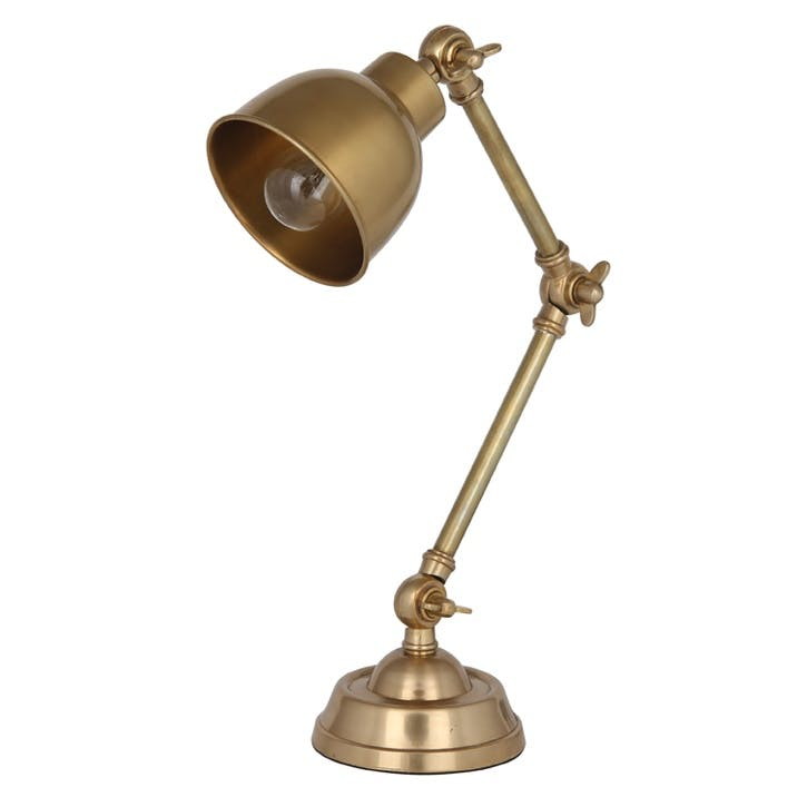 Bradley Antique Brass Task Table Lamp