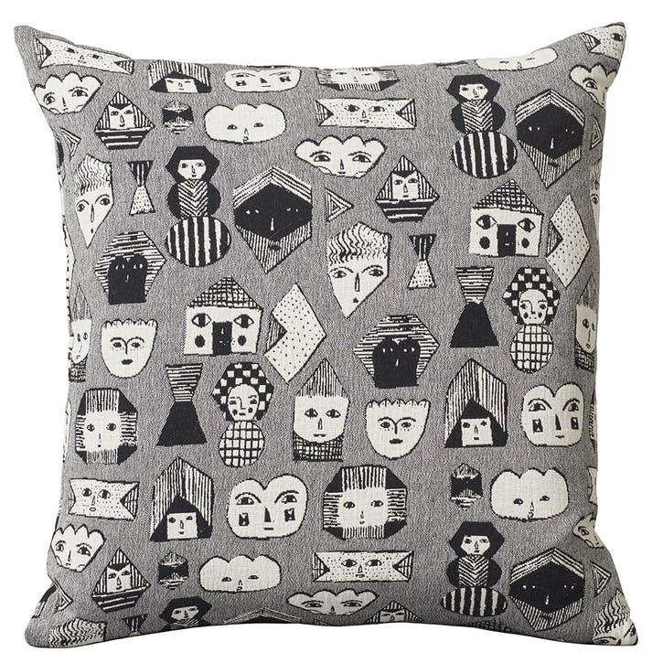 Allsorts Square Cushion, Black & White