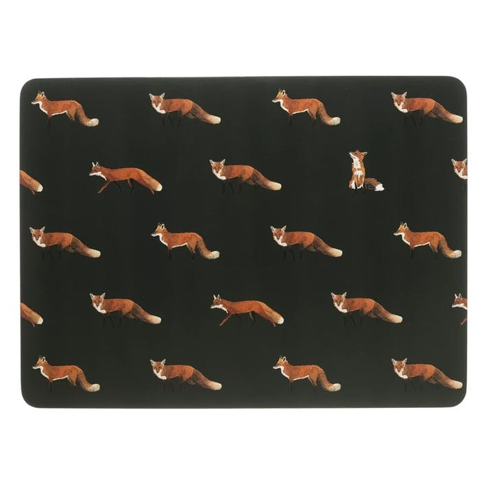'Foxes' Placemats, Set of 4