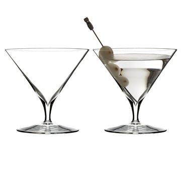 Elegance Martini Glass, Set of 2