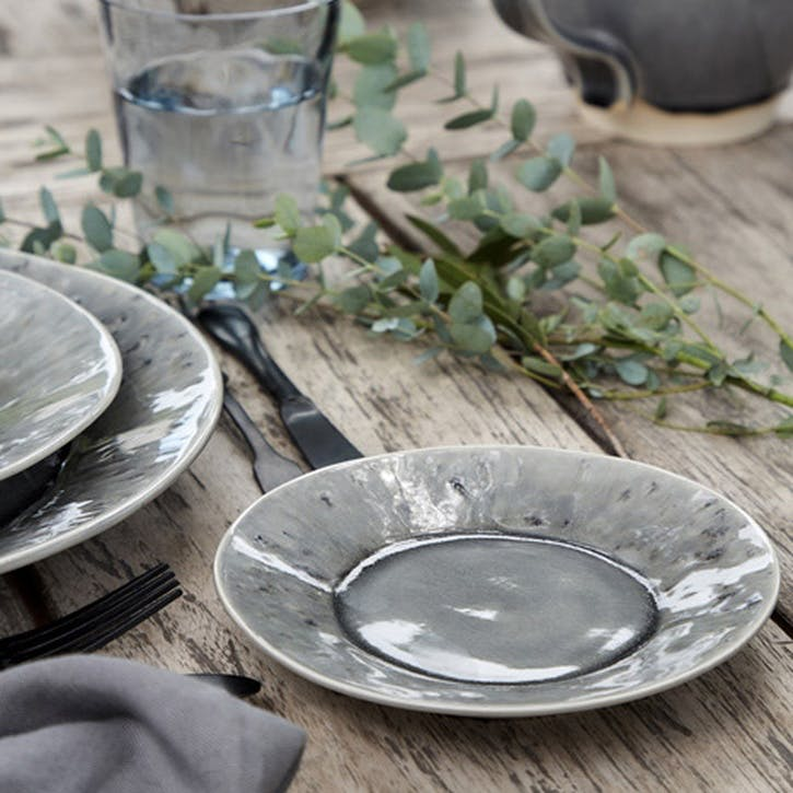 Madeira Grey Side Plates, Set of 6