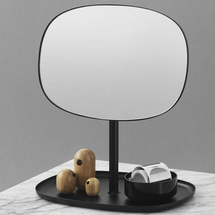 Flip Vanity Mirror L28 x D19.4 x H34.5cm Black