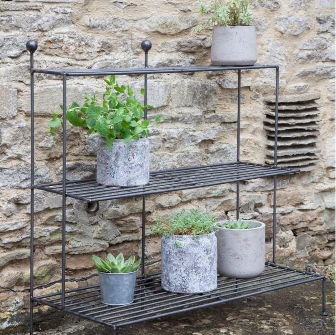 Prezola Barrington Metal Plant Stand Garden Trading
