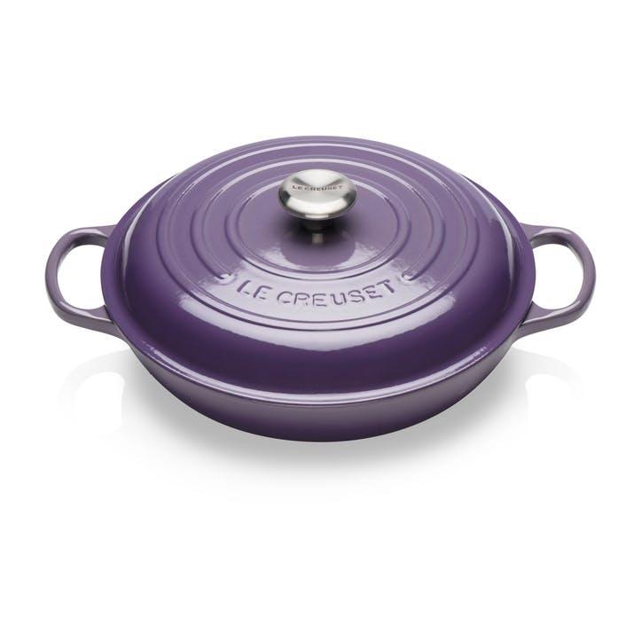 Cast Iron Shallow Casserole - 30cm; Ultra Violet