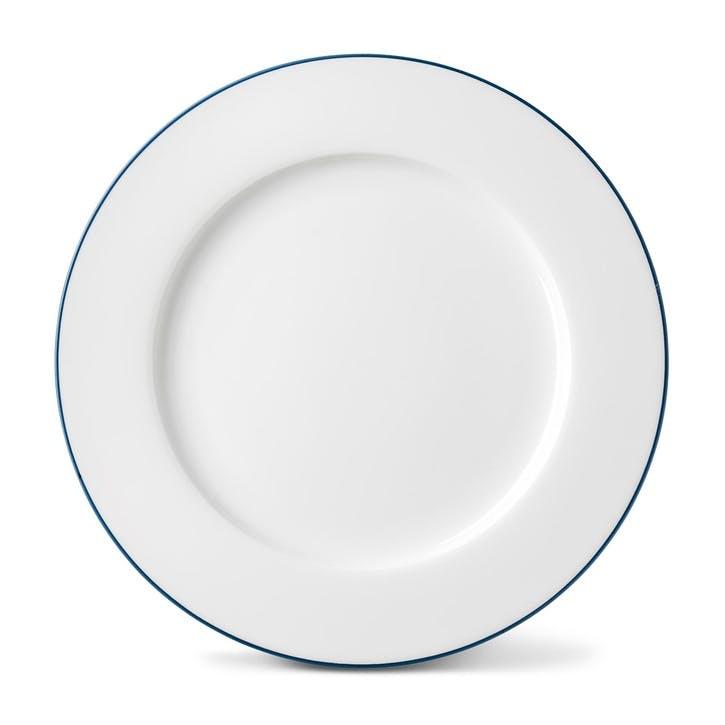 Rainbow Dinner Plate, Marine Blue