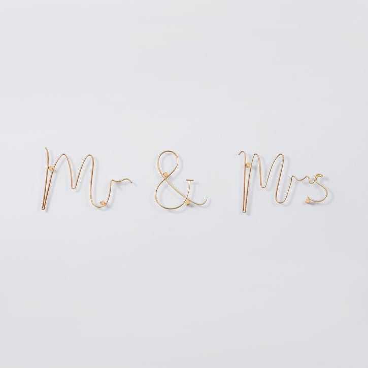 Mr & Mrs Wire Word, Gold