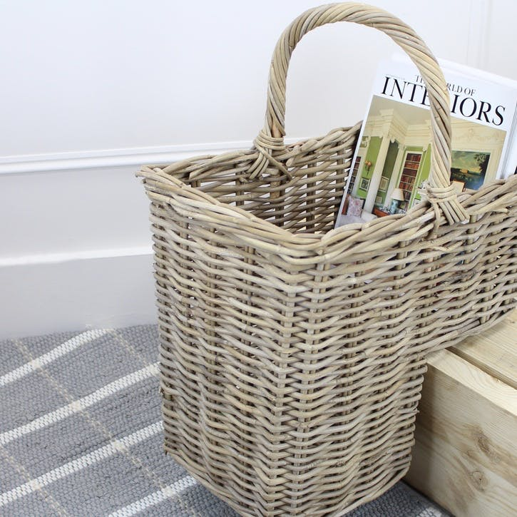 Rattan Woven Stair Basket