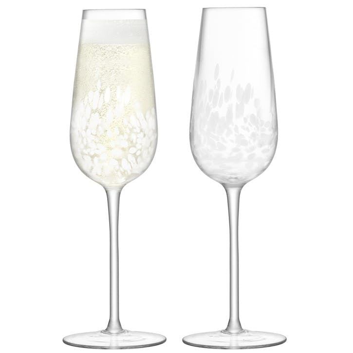 Stipple Champagne Flute, Set of 2