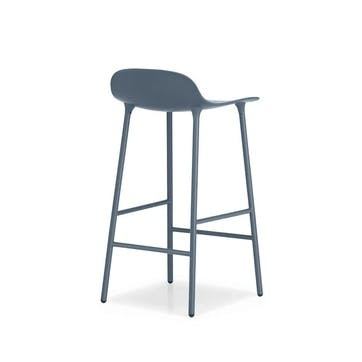 Form Bar Stool D44 x H87cm Blue