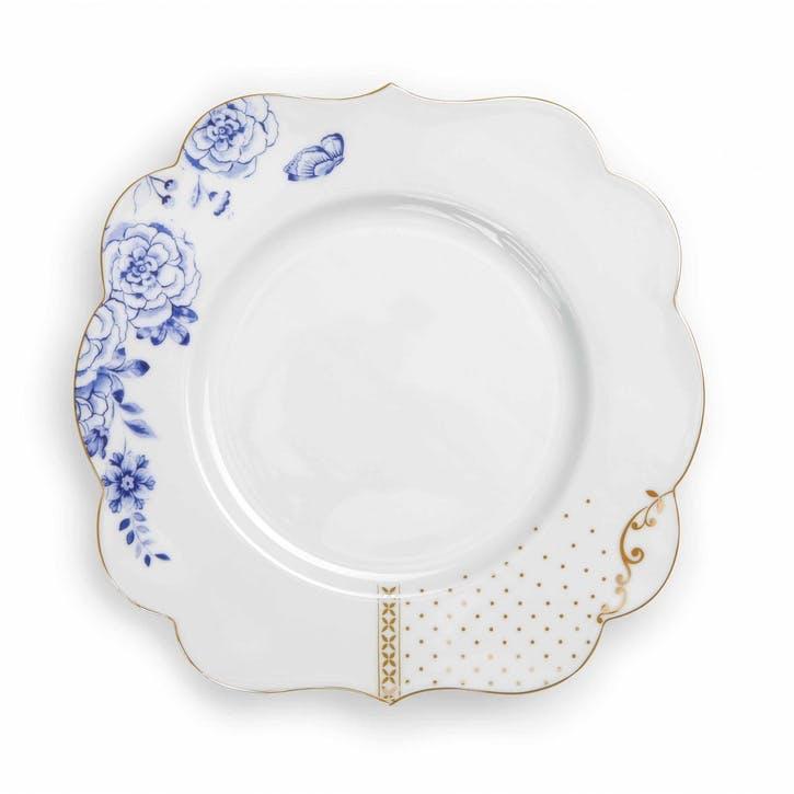PiP Royal White Breakfast Plate