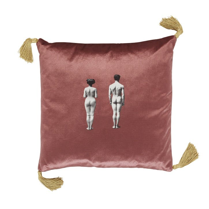 The Models Velvet Cushion, Rose