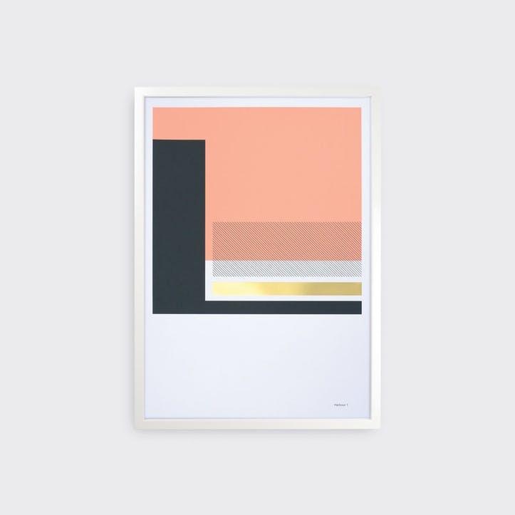 Harbours, Set of 3 Prints, H59 x L42cm