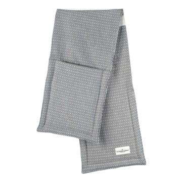 Pique Oven Gloves, L100 x W22cm, Morning Grey
