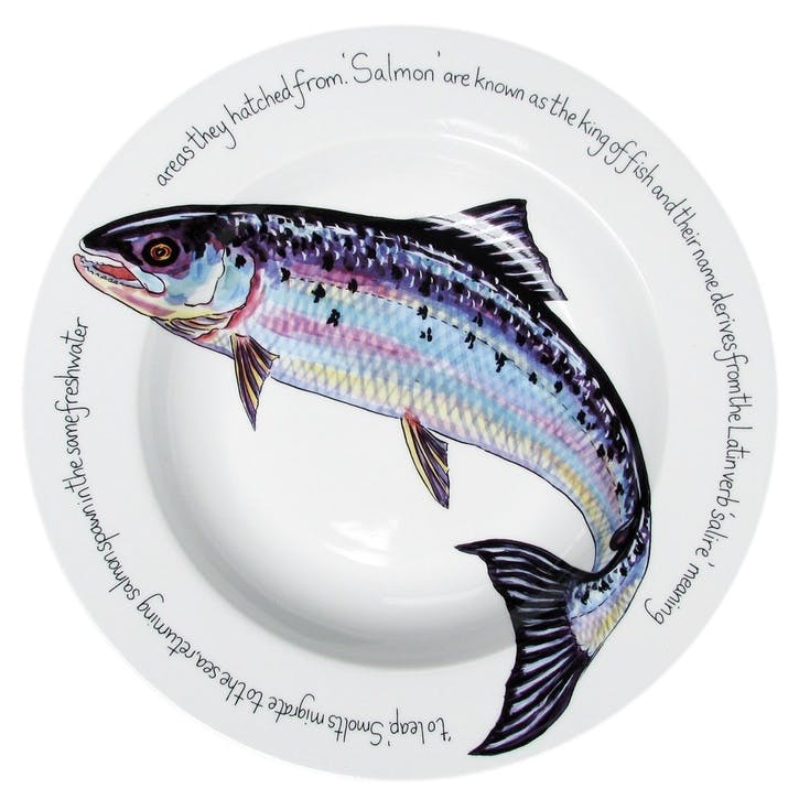 Salmon Flat Rimmed Plate - 30cm