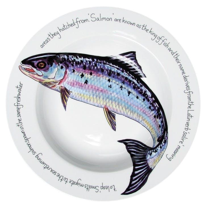 Salmon Flat Rimmed Plate - 30cm