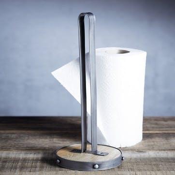 Industrial Kitchen Metal and Wooden Kitchen Roll Holder