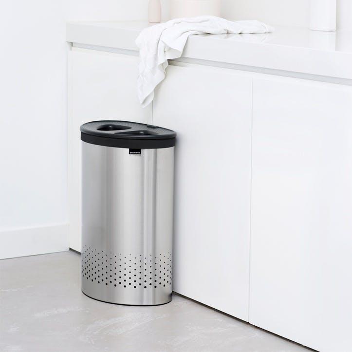 Laundry Bin Selector, 55L, Matt Steel