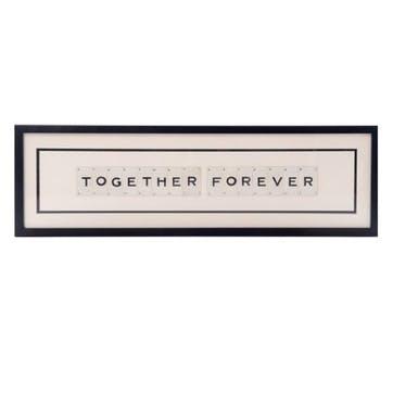 'Together Forever' Word Frame
