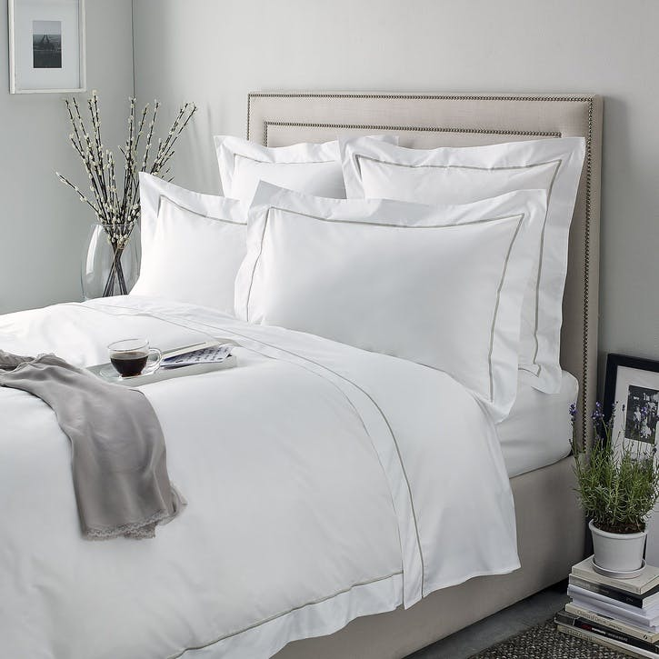 Savoy Duvet Cover, Double, Silver