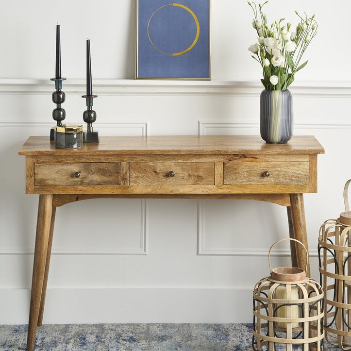 Nordic 3 Drawer Console Table