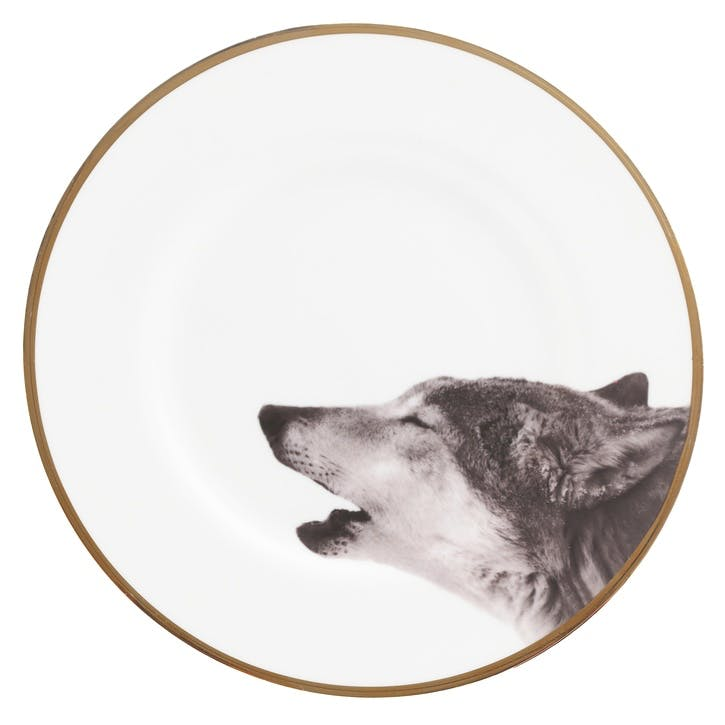 Urban Nature Howling Wolf Dinner Plate