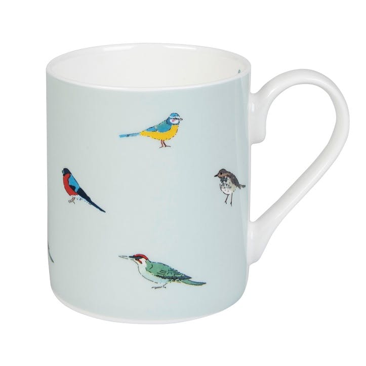 'Garden Birds' Coloured Mug, Standard