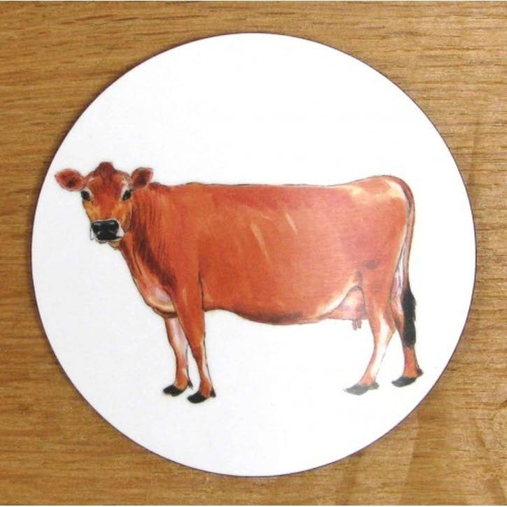 Jersey Cow Coaster - 10cm