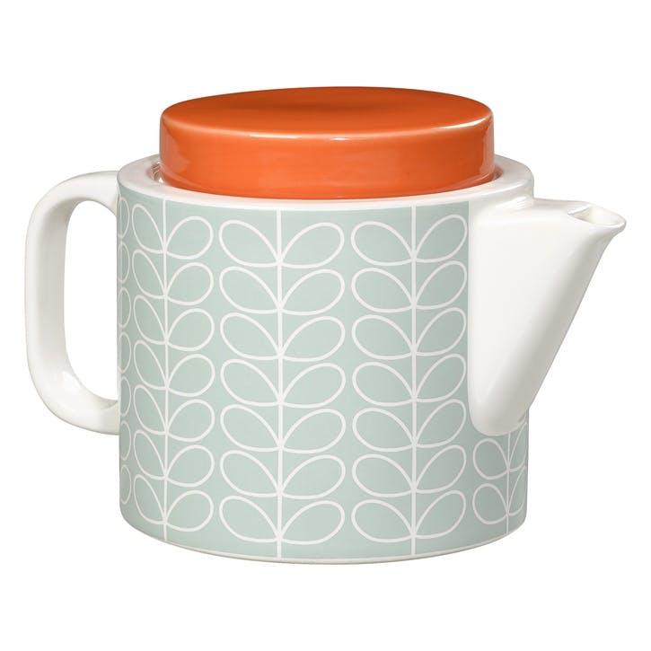 Linear Stem Teapot, Duck Egg Blue