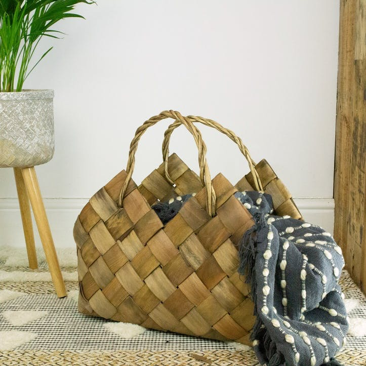 Woven Willow Storage Bag