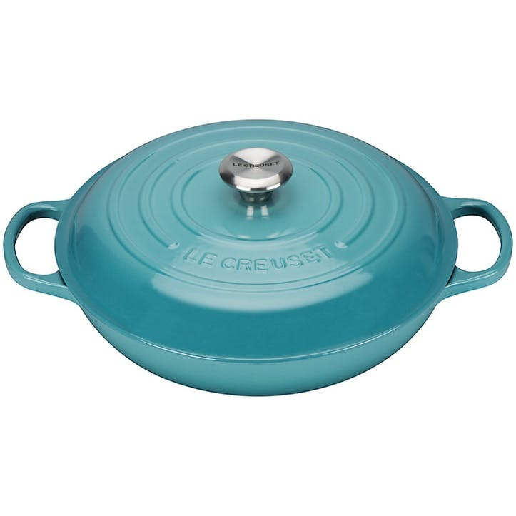 Cast Iron Shallow Casserole - 30cm; Teal
