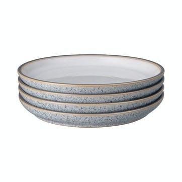 Studio Grey Coupe Medium Plate, Set of 4, White