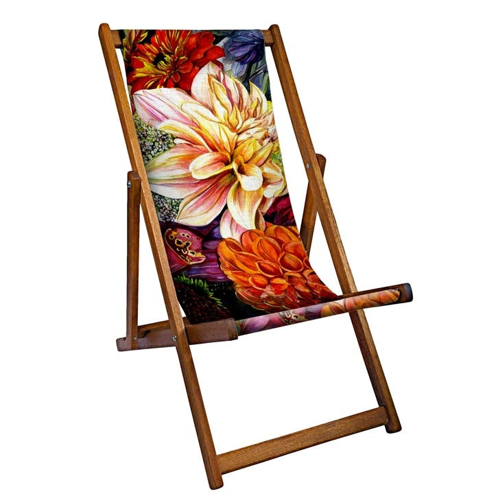 Deckchair Blooming Flowers