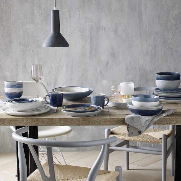 Studio Blue Set of 4 Coupe Dinner Plates