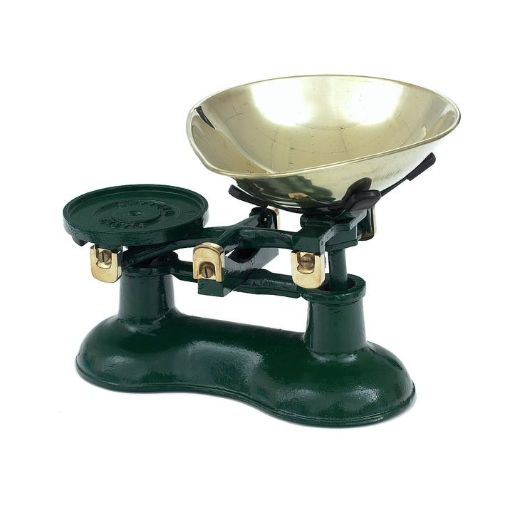 Traditional Cast Iron Scales, Green