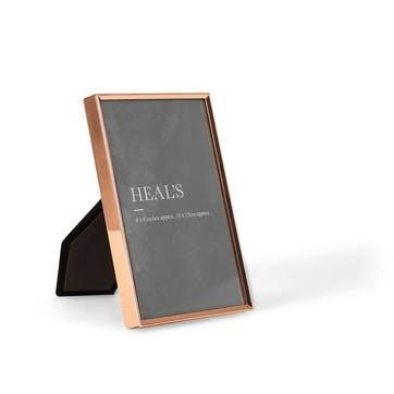 Simple Copper Photo Frame, 15 x 10cm