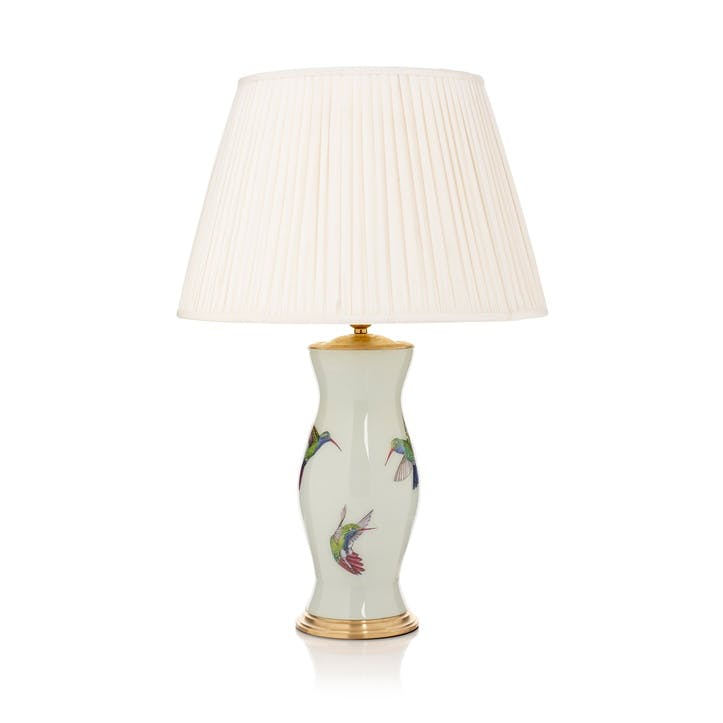 'Come Fly With Me' Hummingbird Lamp Base, Mint Green