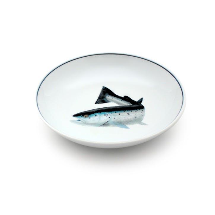 Seaflower Atlantic Salmon Salad Bowl, 19cm, Blue