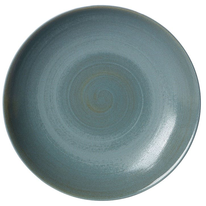 Studio Glaze Coupe Charger Plate - 34cm; Ocean Whisper