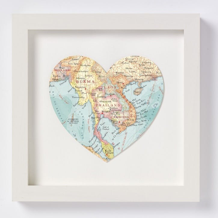 Thailand Framed Map Print, 28cm