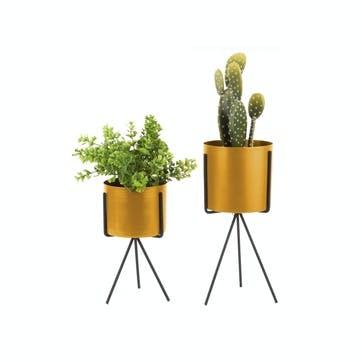 Standing Metal Planter, Set of 2
